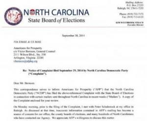 official complaint from NCDP